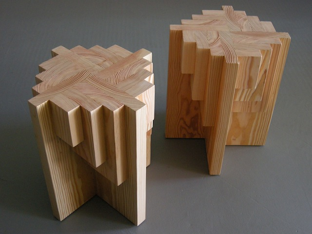 Parquet Table Stools