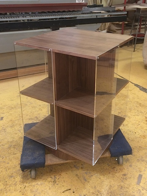 Page Turner Rotating Bookcase - Walnut