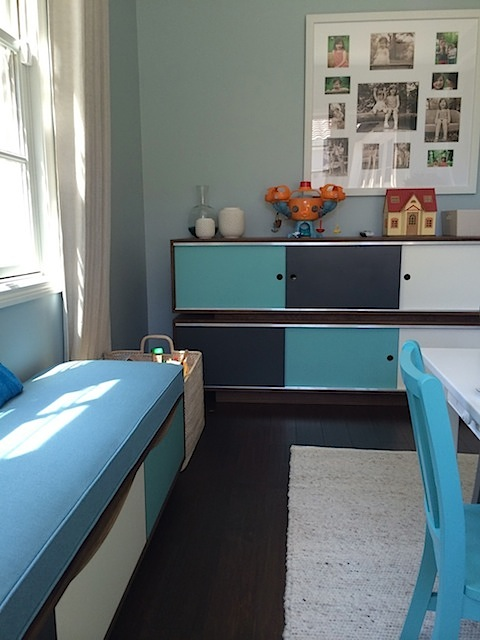 Childrens Room Bench and Cabinet copy